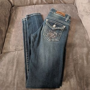 Gogo jeans bling on back pockets